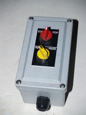 Start Run Stop - Run Pause Control Box - 3 34 X 6 12 X 4