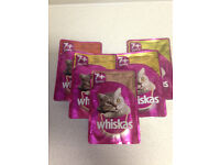 "Whiskas Senior 7+ Wet Cat Food Pouches x12. Poultry Selection ""Soups"" & ""in Jelly"""