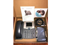 Cisco SPA525G2-EU VoIP Phone 5-lines Bluetooth/WIFI with colour display landline