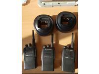 3 x Motorla GP344 compact two-way poratble radio