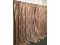 Curtains 229 x 228. 90 x 90. Beautiful blackout curtains. Small mark on lining