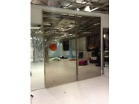 2x Sliding Wardrobe Mirror doors. £50 each or £90 for set. Pick up only.