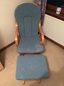Rocking Chair & Footstool For Sale
