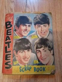 BEATLES scrapbook with COMPLETE set signed bubblegum cards