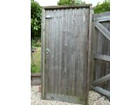 Solid wood garden gate with frame and galvanised fittings. 1950 high x 900 wide