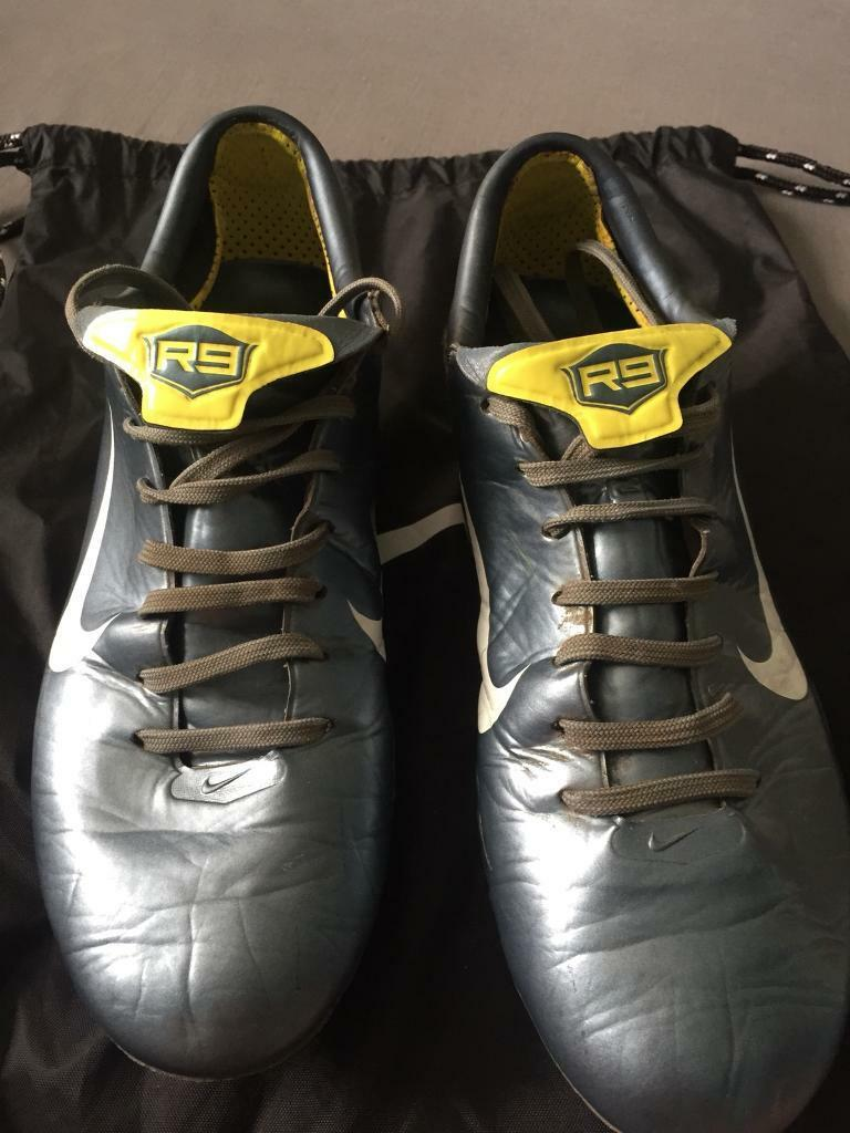 2006 Nike Mercurial Vapor III R9 Football Boots Size UK 7 GRAPHITE PLATINUM  YELLOW d47b3e0312b25