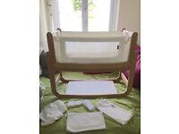 Snuzpod Bedside Crib and Coir Mattress with Bedding Bundle