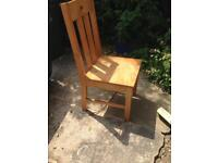 Solid Pine Dinning Chairs