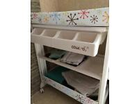 Cosatto baby bath and changing table.
