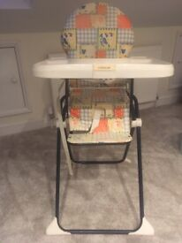 Mothercare high chair in pretty good conditi