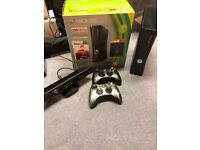 Xbox 360 elite with Kinect and games