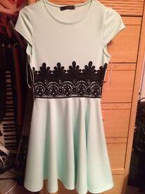 Quiz Mint Skater Dress Size 8
