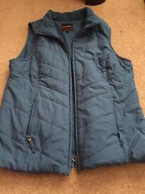 Ladies size 12/14 blue body warmer
