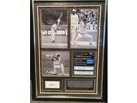 Personally signed by Richard John Hadlee - 3 pictures with career stats