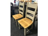 BRAND NEW SOLID OAK CHAIRS-75 each—
