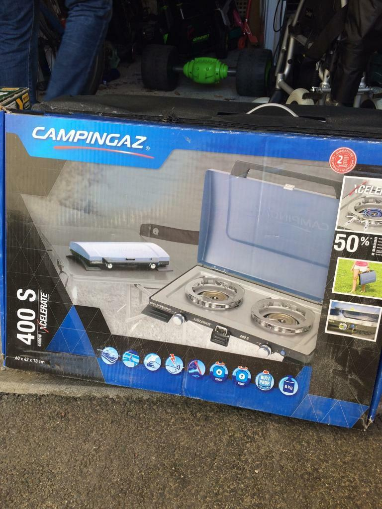 Double ring camping stove used once | in Plymouth, Devon | Gumtree