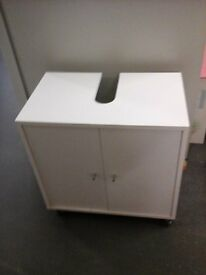 White under sink bathroom storage cupboard