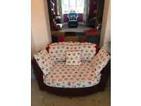 Large 2 seater swivel owl cuddle love chair