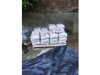 27 Bags Of Cement, 9 25kg Bags Of Gradings & A Quarter Tonne Of Ballast £60