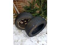 2 tires + alloy wheel 225/50/17