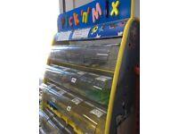 Pick n Mix sweet display shelving unit