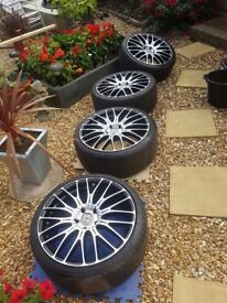 "vw audi vag alloys wheels 19"" 5 x 8.5jj"