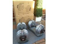 Body max selectable Dumbbells & squat rack