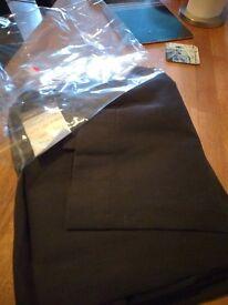 Black cotton curtains, 90/68