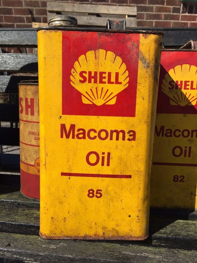 Man Cave Items For Sale Gumtree : Vintage shell oil can old macoma man