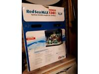Red Sea Max 130d black tank and cabinet