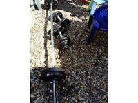Weights set 55 kg barbell dumbbell bars