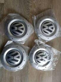 4 x VW OEM Wheel Centre Hub Caps