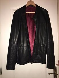 "Mens Black ""TED BAKER"" Leather Jacket"