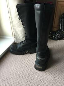 Men's leather new rock boots;Collection only
