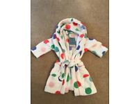 Age 2 years John Lewis girls dressing gown. Never worn.