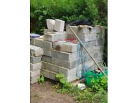100 concrete blocks 300 ml for sale maybe a couple more