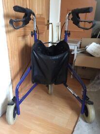 Mobility walker 3 wheels folding