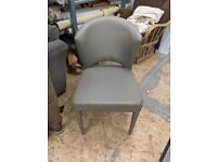 Grey dining, office, dressing table chair REUPHOLSTERY PROJECT