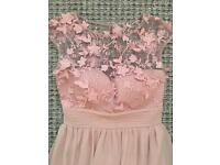 NEW Sistaglam pink beverley BRIDESMAID/EVENING dress size 8