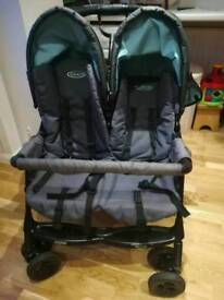 Grace double pushchair buggy