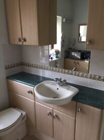 Ensuite furniture inc basin, toilet.
