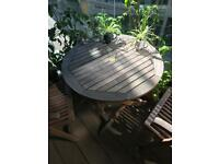 Teak outdoor furniture set (two chairs)