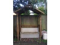 Garden wooden arbour
