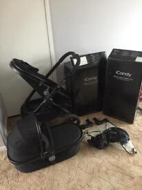 icandy peach 3 pushchair & carry cot system