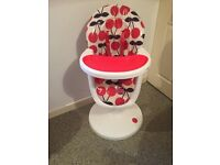 Red and white cossato 3sixti highchair
