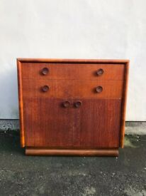 Mid Century Vintage Meredew Linen Cupboard With Two Drawers