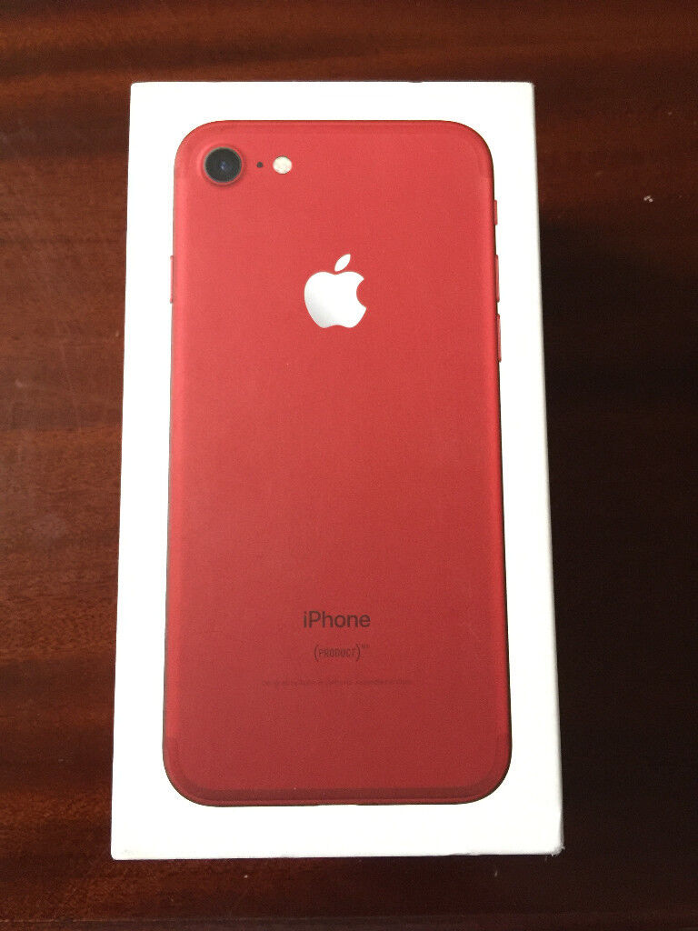 Apple iPhone 7 128GB. RED. EXCELLENT CONDITION. BOXED. APPLE WARRANTY