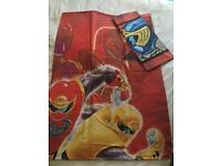 Power Rangers child's duvet cover and pillowcase set. £2.