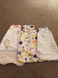 0-6 month 2.5 tog Baby Grow Bags x3