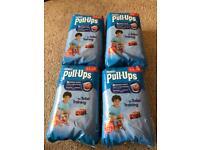 4 brand new packs of Huggies Pull ups size L